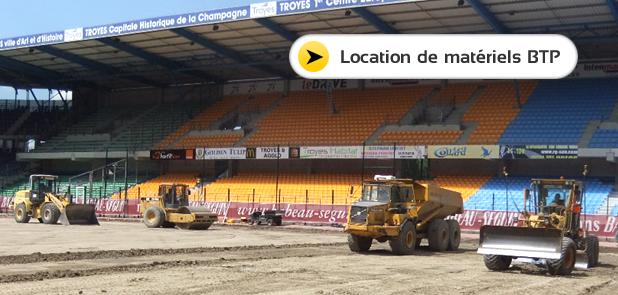 Location de materiel btp Auxerre Yonne 89, Aube 10