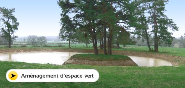 Amenagement espace vert, lagune, route forestiere Yonne et Aube