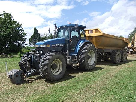 Tracteur benne TP Aube, Yonne